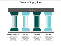 Demand Supply Law Ppt PowerPoint Presentation Outline Show Cpb