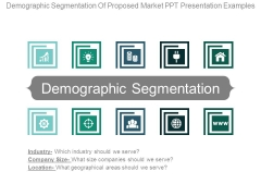 Demographic Segmentation Of Proposed Market Ppt Presentation Examples