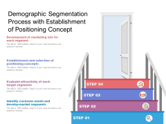 Demographic Segmentation Process With Establishment Of Positioning Concept Ppt PowerPoint Presentation Professional Objects PDF