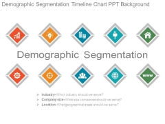 Demographic Segmentation Timeline Chart Ppt Background