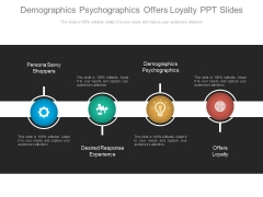 Demographics Psychographics Offers Loyalty Ppt Slides