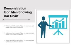 Demonstration Icon Man Showing Bar Chart Ppt Powerpoint Presentation Styles Ideas