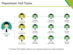 Department And Teams Ppt PowerPoint Presentation Gallery Clipart