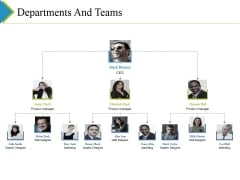 Departments And Teams Ppt PowerPoint Presentation Gallery Layout