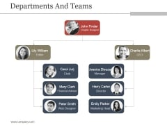 Departments And Teams Ppt PowerPoint Presentation Good