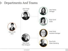 Departments And Teams Ppt PowerPoint Presentation Professional