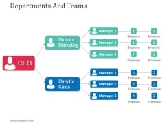 Departments And Teams Template 1 Ppt Powerpoint Presentation Show Examples