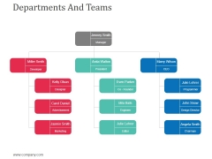 Departments And Teams Template 2 Ppt Powerpoint Presentation Portfolio Infographics