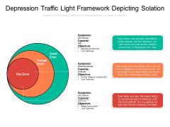 Depression Traffic Light Framework Depicting Solation Ppt PowerPoint Presentation Layouts Guide PDF