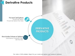 Derivative Products Ppt PowerPoint Presentation Model Information
