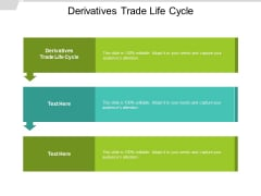 Derivatives Trade Life Cycle Ppt PowerPoint Presentation Infographic Template Ideas Cpb