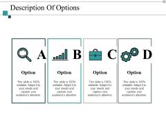 Description Of Options Ppt PowerPoint Presentation Model Templates