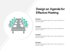 Design An Agenda For Effective Meeting Ppt PowerPoint Presentation Show Template