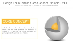 Design For Business Core Concept Example Of Ppt