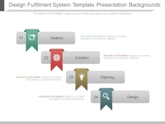 Design Fulfilment System Template Presentation Backgrounds