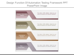 Design Function Of Automation Testing Framework Ppt Powerpoint Image