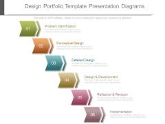 Design Portfolio Template Presentation Diagrams