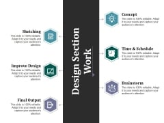 Design Section Work Ppt PowerPoint Presentation Show Background Image