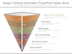 Design Thinking Information Powerpoint Slides Show
