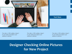 Designer Checking Online Pictures For New Project Ppt PowerPoint Presentation Pictures Good PDF