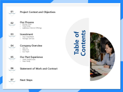 Designing And Editing Solutions Table Of Contents Background PDF