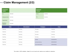 Designing Compensation Systems For Professionals Claim Management Business Template PDF