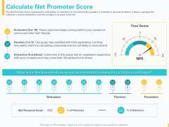 Designing Great Client Experience Action Plan Calculate Net Promoter Score Ppt Gallery Ideas PDF