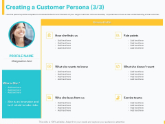 Designing Great Client Experience Action Plan Creating A Customer Persona Pain Ppt File Shapes PDF