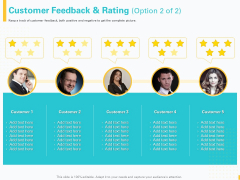 Designing Great Client Experience Action Plan Customer Feedback And Rating Team Ppt Infographics Outfit PDF