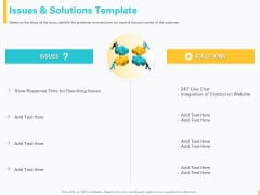 Designing Great Client Experience Action Plan Issues And Solutions Template Ppt PowerPoint Presentation Infographics Smartart PDF