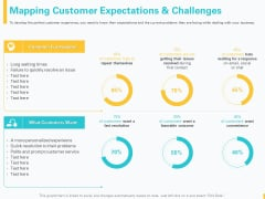 Designing Great Client Experience Action Plan Mapping Customer Expectations And Challenges Information PDF