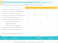 Designing Great Client Experience Action Plan Roll Out Customer Experience Survey Sales Clipart PDF