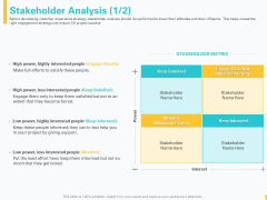 Designing Great Client Experience Action Plan Stakeholder Analysis Ppt PowerPoint Presentation Professional Example PDF