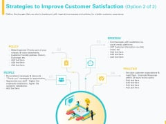 Designing Great Client Experience Action Plan Strategies To Improve Customer Satisfaction Policy Ppt Outline Graphics Download PDF