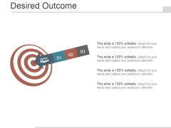 Desired Outcome Ppt PowerPoint Presentation Show