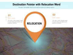 Destination Pointer With Relocation Word Ppt PowerPoint Presentation Professional Example PDF