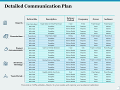Detailed Communication Plan Ppt PowerPoint Presentation Portfolio Graphic Images