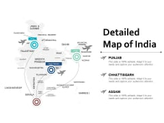 Detailed Map Of India Ppt Powerpoint Presentation Icon Slides