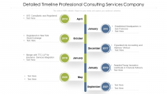 Detailed Timeline Professional Consulting Services Company Ppt PowerPoint Presentation Gallery Information PDF