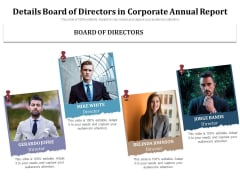 Details Board Of Directors In Corporate Annual Report Ppt PowerPoint Presentation File Gallery PDF