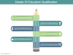 Details Of Education Qualification Powerpoint Slide Background
