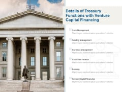 Details Of Treasury Functions With Venture Capital Financing Ppt PowerPoint Presentation Ideas Guidelines