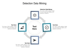 Detection Data Mining Ppt PowerPoint Presentation Pictures Layouts Cpb Pdf