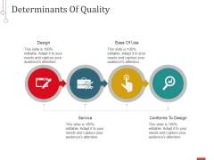 Determinants Of Quality Ppt PowerPoint Presentation Inspiration Background Images