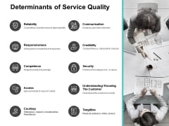 Determinants Of Service Quality Ppt PowerPoint Presentation Infographic Template Microsoft