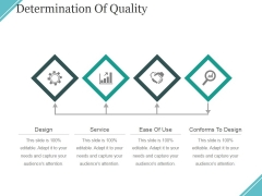 Determination Of Quality Ppt PowerPoint Presentation Ideas Graphics