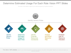 Determine Estimated Usage For Each Role Vision Ppt Slides