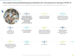 Determine Financial Risk Response Initiatives For Tourism Sector During COVID 19 Themes PDF