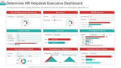 Determine HR Helpdesk Executive Dashboard Mockup PDF