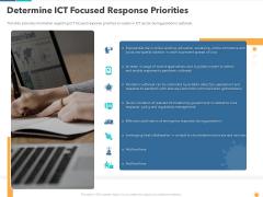 Determine ICT Focused Response Priorities Clipart PDF